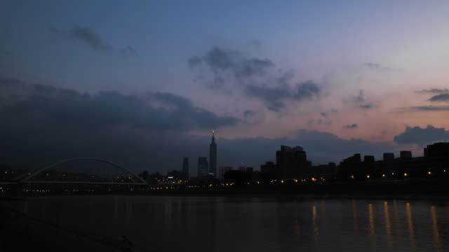 vidéos et rushes de 4 k timelapse: ville de taipei - taipei