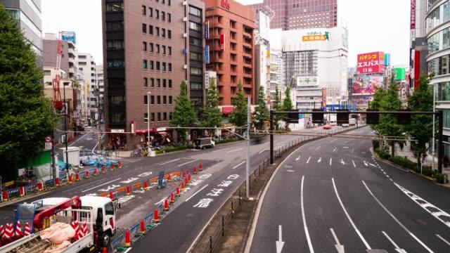 新宿区東京人の混雑した 4 k タイムラプス - 商業地域点の映像素材/bロール
