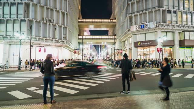4k timelapse crowded people at Shibuya in Japan