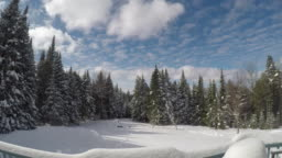 4k timelapse from Vermont Winter Scenes