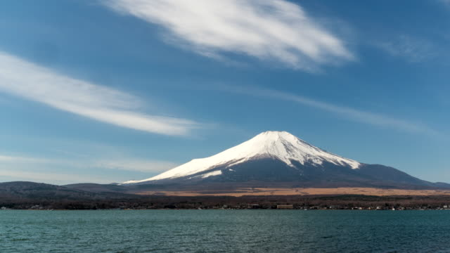 4kタイムラプス : 山中湖の富士山風景 - 山点の映像素材/bロール
