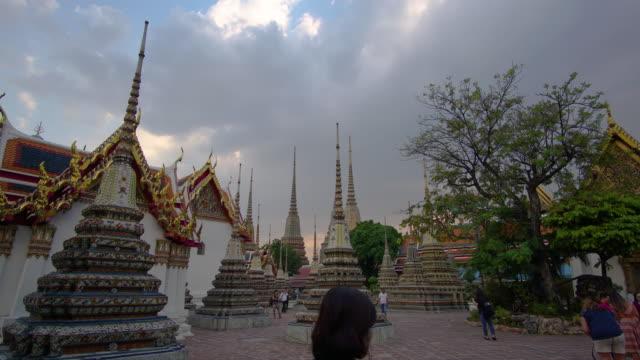 4k timelapse lockdown at Wat Pho in Bangkok, Thailand.