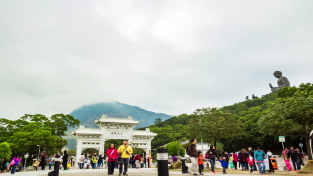 4k timelapse of big buddha, hong kong. - lantau stock videos and b-roll footage