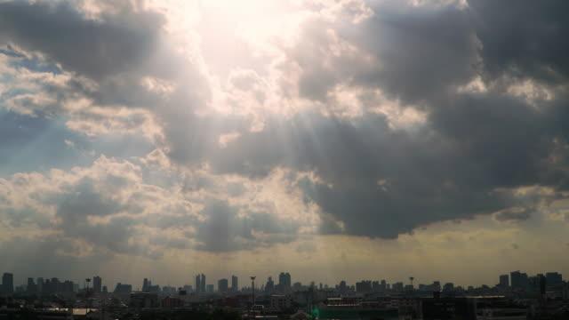 4 k 都市景観とサンビームのコマ撮り。 - sun点の映像素材/bロール
