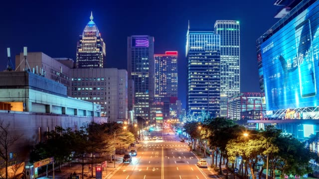 4k timelapse of  East Taipei Mall and office building