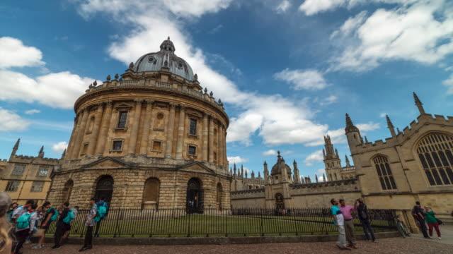 4k time-lapse : universität oxford, england uk - oxford universität stock-videos und b-roll-filmmaterial