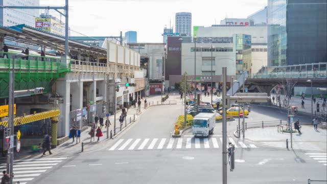 4k time-lapse: Passengers hurry at Akihabara crowd station in Tokyo, Japan.