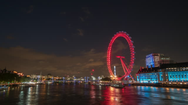 4k time-lapse : river thames of london, england, uk - international landmark stock videos & royalty-free footage
