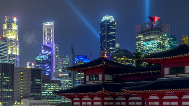 4k. 新加坡佛牙文物寺 timelapse 日出景 - 寺院 個影片檔及 b 捲影像