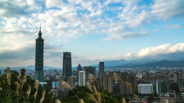 4 k Zeitraffer: Wolkenkratzer Taipei