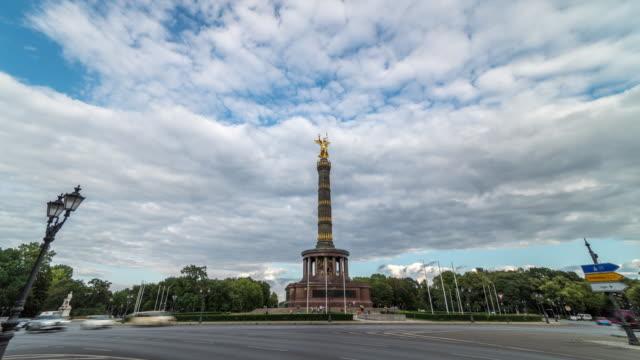stockvideo's en b-roll-footage met 4k time-lapse: overwinning kolom in berlijn - capital cities