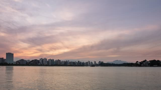 4k Timelapse Video-City Skyline at Sunset