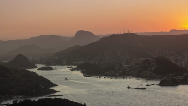 4k Timelapse Video - Sunset Over The Hills at the Estuary