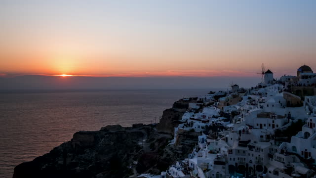 4k timelapse : village oia on santorini island, greece - oia santorini stock videos & royalty-free footage