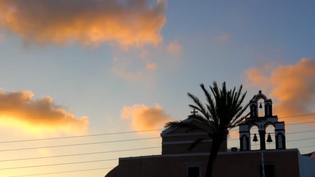 4k timelapse : village oia on santorini island, greece - oia santorini stock videos & royalty-free footage