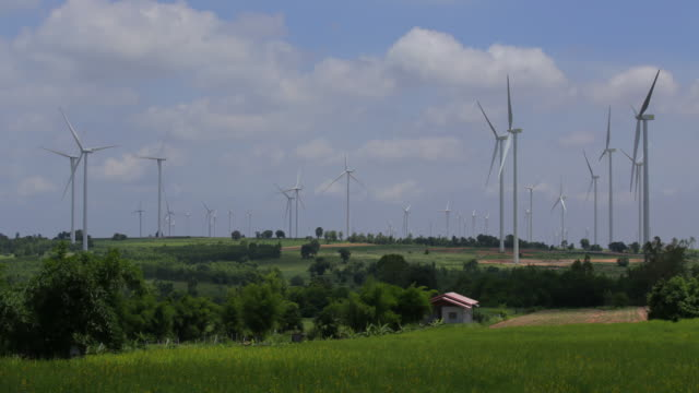 4k Timelapse, Wind turbine at daytime.