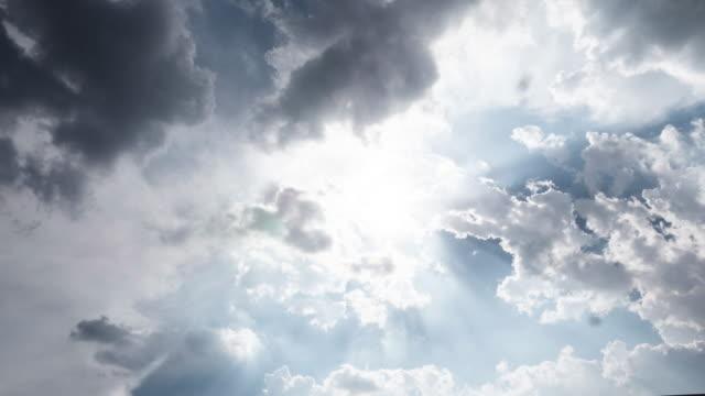 vidéos et rushes de 4k tl: ciel bleu clair avec un paysage de nuages. - cumulonimbus