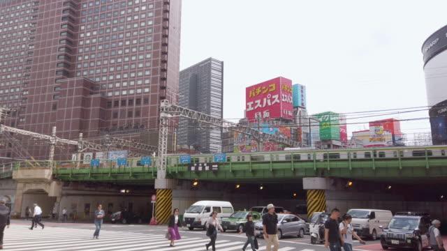 東京・新宿地区の4k交通 - 列車の車両点の映像素材/bロール