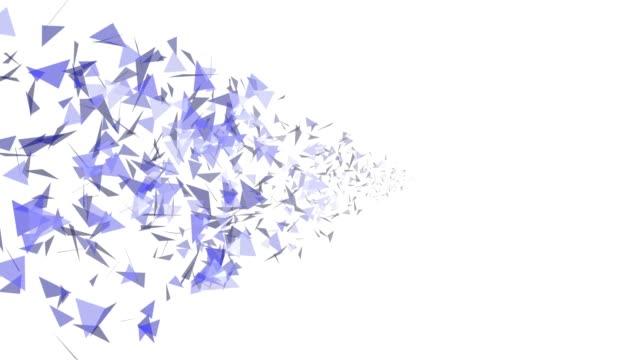 vidéos et rushes de 4 k triangles abstract background animation boucle parfaite - triangle forme bidimensionnelle