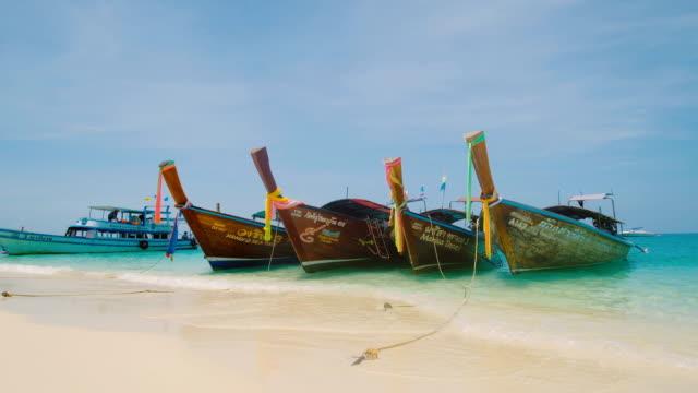 4 k tropiska sand beach Koh rok Andamansjön södra Thailand.