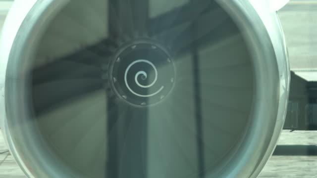 4k: turbine engine of airplane - blade stock videos & royalty-free footage