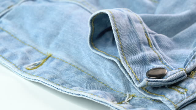 4k uhd footage of jeans jacket - jeans stock videos & royalty-free footage