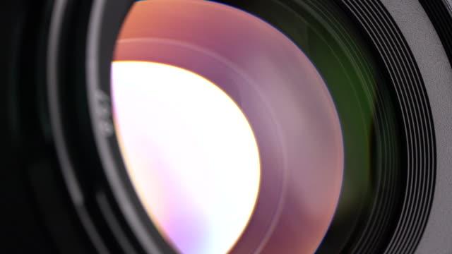 4k UHD Slider shot Footage of Camera Lens