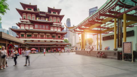4k uhd timelapse at buddha tooth relic temple in china town ,singapore - antiquities stock videos & royalty-free footage
