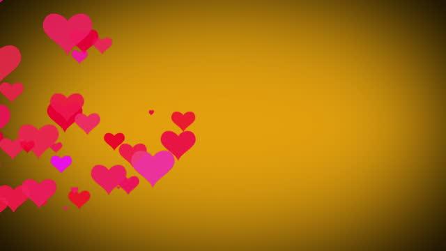 vidéos et rushes de 4k valentine's day background, flat style icônes cardiaques animation en mouvement. le concept de symbole d'amour, comme bouton, comptoir de barre, élément de conception, émotion, médias sociaux, jour de valentines, bonheur, vidéo de stock de sto - k pop