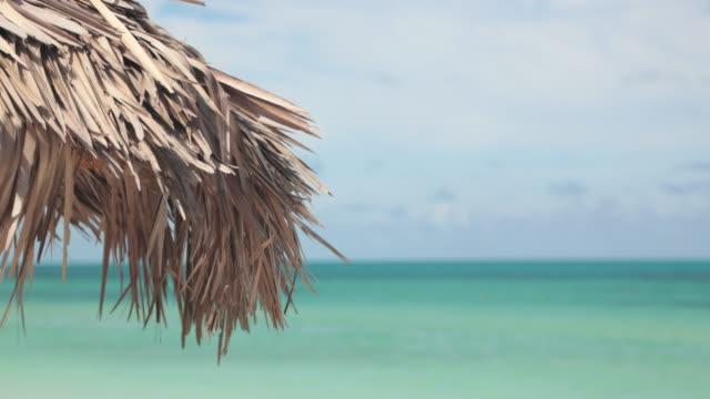 stockvideo's en b-roll-footage met 4 k video van idyllische tropische strand met turquoise water op mooie dag - als in een droom