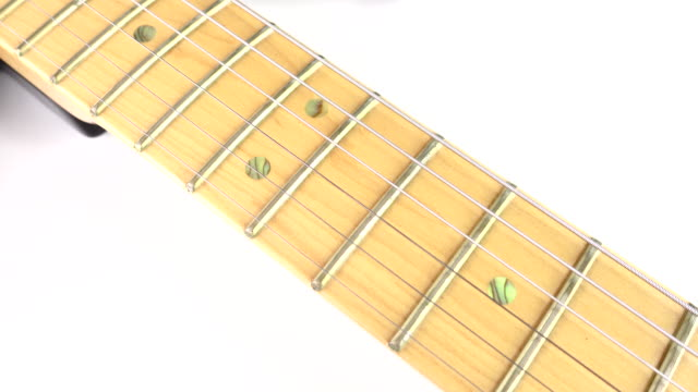 4k video slide shot on electric guitar neck - fretboard stock videos and b-roll footage