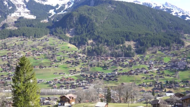 vidéos et rushes de vue 4k de lauterbrunnen, suisse - plaine caractéristiques de la terre