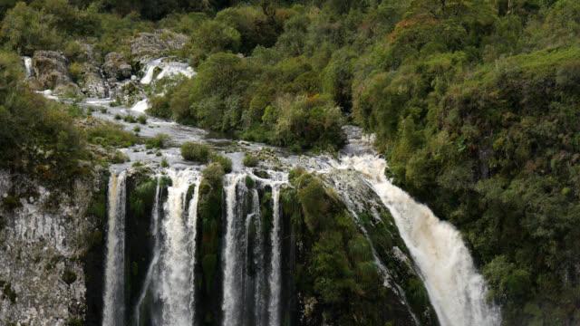 4k waterfall at cânion do itaimbezinho, rio grande do sul, brazil - rio grande do sul state stock videos and b-roll footage