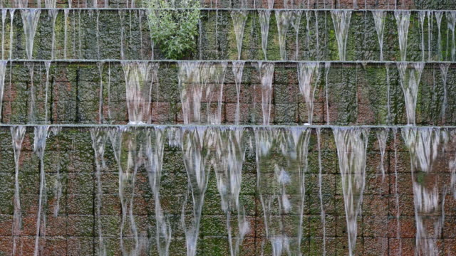 4k: Waterfall in a stone wall.