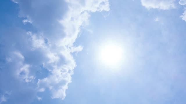 4 k T/L weiße Wolken am blauen Himmel