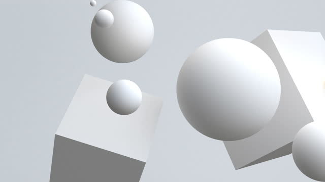 4k white spheres floating in motion. - three dimensional stock videos & royalty-free footage