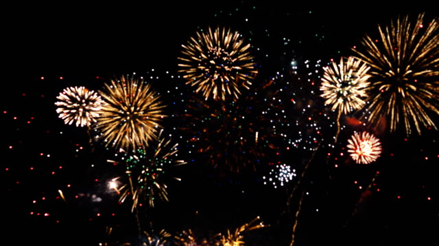4k: wonderful firework background - firework display stock videos & royalty-free footage