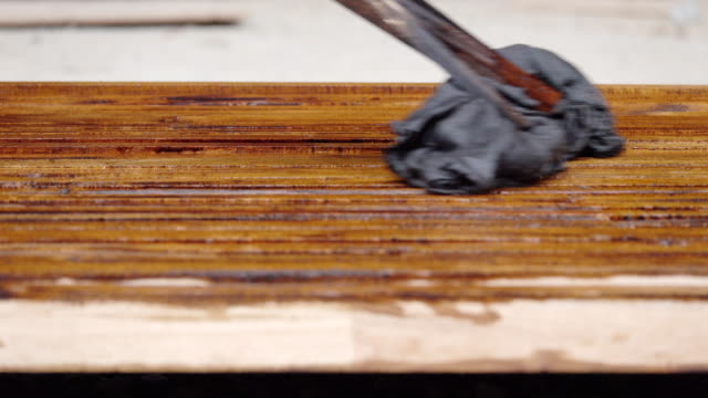 4k: wood painting with the brown color - baroque stock videos & royalty-free footage