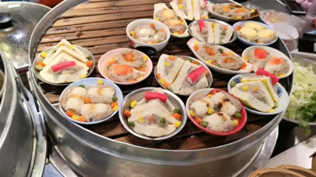 vidéos et rushes de 4k xiao long bao, boulettes de porc en streaming - panier