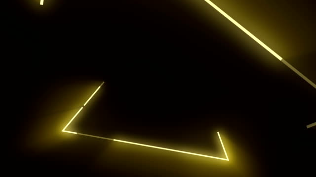 4k yellow triangle abstract concert background - neon colored stock videos & royalty-free footage