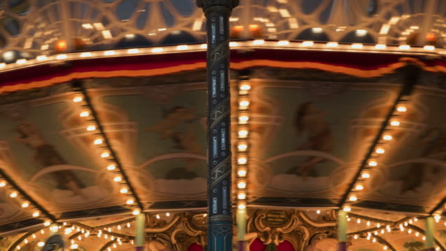 4k,amusement park at night. - roundabout stock videos & royalty-free footage