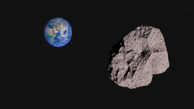 4k:asteroid attack in earth - meteor stock videos & royalty-free footage