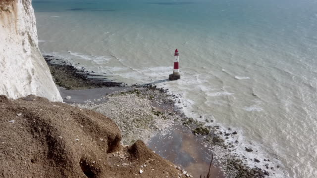 4k:beachy head lighthouse - steep stock videos & royalty-free footage