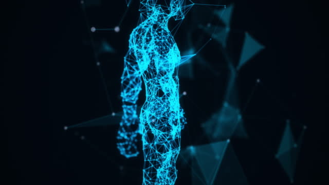 4k-blue human system,science man - the human body stock videos & royalty-free footage