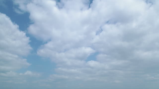 4K,T/L,blue sky and clouds.