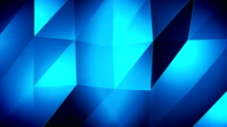 4K-Blue Triangle waves Background
