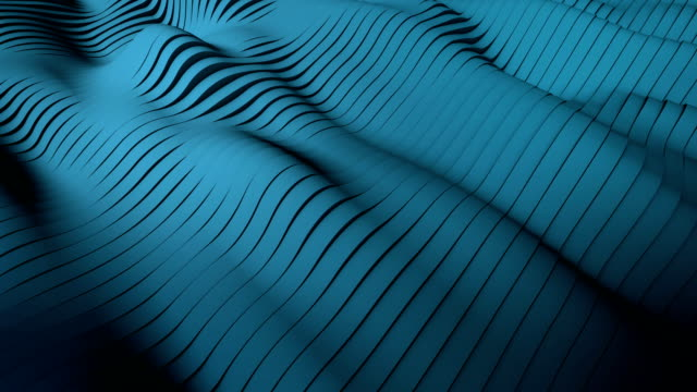 4K-Blue waves Background - Stock video