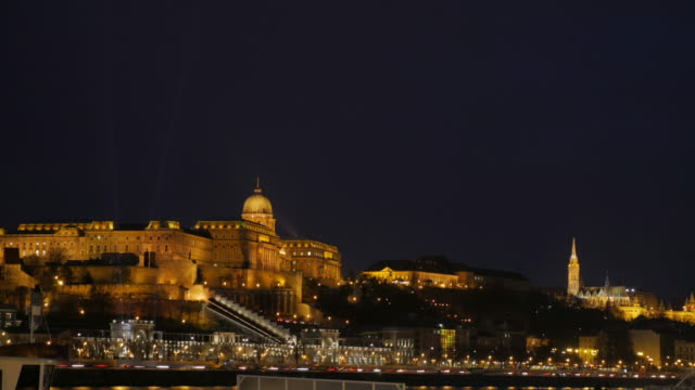 4k:buda castle budapest hungary - royal palace of buda stock videos & royalty-free footage