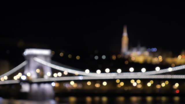 4K:Budapest Hungary Chain Bridge with fishermans bastion