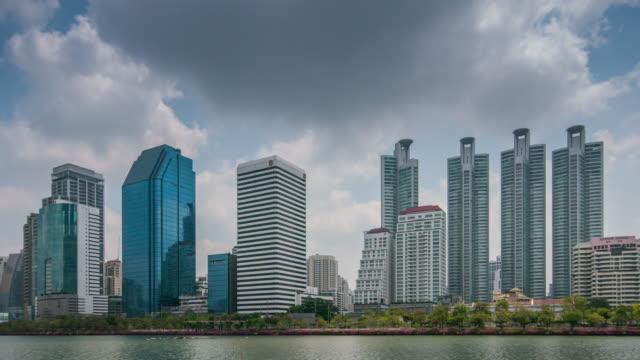4 K :  Gebäude Zeitraffer des business-Centers (UHD